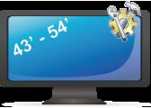 Установка телевизора  от 43 до 54 дюйма